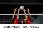 volleyball game sport with... | Shutterstock . vector #1362701867