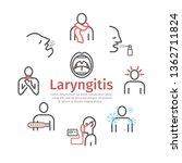 laryngitis banner. symptoms ... | Shutterstock .eps vector #1362711824