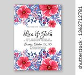 peony pink rose ranunculus... | Shutterstock .eps vector #1362712781