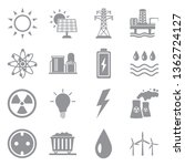 energy icons. set 2. gray flat... | Shutterstock .eps vector #1362724127