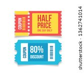 promotions vector  coupon   Shutterstock .eps vector #1362741014