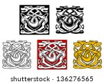 dogs ornamental pattern in... | Shutterstock . vector #136276565