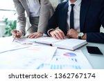 young elegant businessman in... | Shutterstock . vector #1362767174