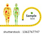 weight loss concept. before and ... | Shutterstock .eps vector #1362767747