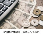 closeup of japanese yen money... | Shutterstock . vector #1362776234