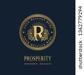 letter r in the sunlight. coat... | Shutterstock .eps vector #1362779294