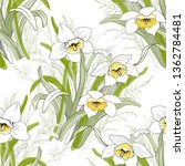 seamless pattern with white...   Shutterstock . vector #1362784481