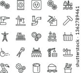 thin line vector icon set  ... | Shutterstock .eps vector #1362789461