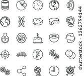 thin line vector icon set  ... | Shutterstock .eps vector #1362794144