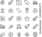 thin line vector icon set  ... | Shutterstock .eps vector #1362801371