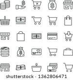 thin line vector icon set  ... | Shutterstock .eps vector #1362806471