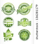 eco bio natural logos  | Shutterstock .eps vector #136281179