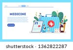 medication set. collection of... | Shutterstock .eps vector #1362822287