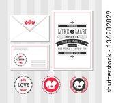 invitation set   Shutterstock . vector #136282829
