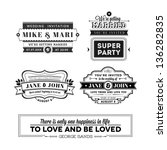 wedding stamps version | Shutterstock . vector #136282835