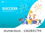 office workers celebrating... | Shutterstock .eps vector #1362831794
