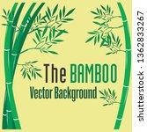 bamboo logo green leaf   vector ... | Shutterstock .eps vector #1362833267