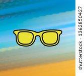 sunglasses mono color icon....