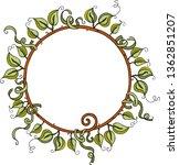 round frame made of green...   Shutterstock .eps vector #1362851207