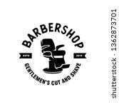 barber shop emblem badge... | Shutterstock .eps vector #1362873701