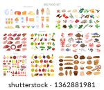 food set. collection of various ... | Shutterstock .eps vector #1362881981