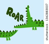 Cute Crocodile Print Design ...
