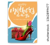 mother's day card with a modern ... | Shutterstock .eps vector #1362899477