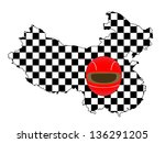 racing map china | Shutterstock . vector #136291205