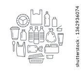 stop using plastic circle...   Shutterstock .eps vector #1362936074