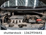 under the hood of the car  the... | Shutterstock . vector #1362954641
