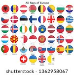 all flags of europe.circular... | Shutterstock .eps vector #1362958067