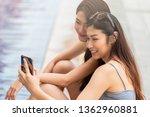 group of best friends taking... | Shutterstock . vector #1362960881