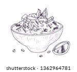 tabbouleh salad or hummus in... | Shutterstock .eps vector #1362964781