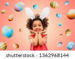 easter  holidays and childhood... | Shutterstock . vector #1362968144