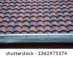 stainless steel of roof gutter... | Shutterstock . vector #1362975374