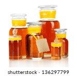 medicine bottles isolated on