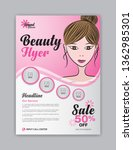 flyer template with beautiful... | Shutterstock .eps vector #1362985301