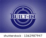 built in emblem with jean... | Shutterstock .eps vector #1362987947
