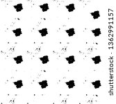 grunge black and white texture. ... | Shutterstock .eps vector #1362991157