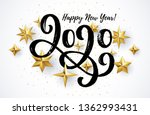 Happy New Year 2020 Card With...