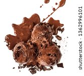 dark chocolate  ice cream... | Shutterstock . vector #1362996101