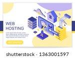 web hosting  cloud storage...   Shutterstock .eps vector #1363001597