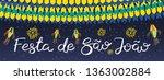 festa junina banner with... | Shutterstock .eps vector #1363002884