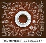 hand drawn design vector... | Shutterstock .eps vector #1363011857