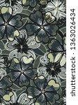 flower pattern art illustration ... | Shutterstock . vector #1363026434