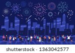 crowd of people watching... | Shutterstock .eps vector #1363042577