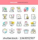 human resources  deuce icons.... | Shutterstock .eps vector #1363052507