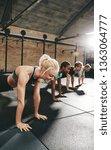 young woman in sportswear... | Shutterstock . vector #1363064777