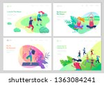 landing page template with... | Shutterstock .eps vector #1363084241