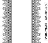 set of seamless border ornament ...   Shutterstock .eps vector #1363090871